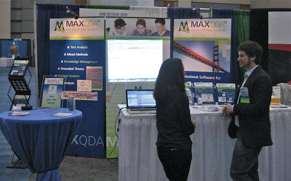 MAXQDA booth at the APHA 2011