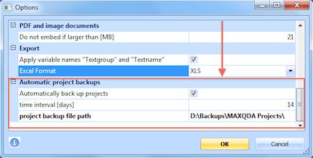 Automatic Project Backup
