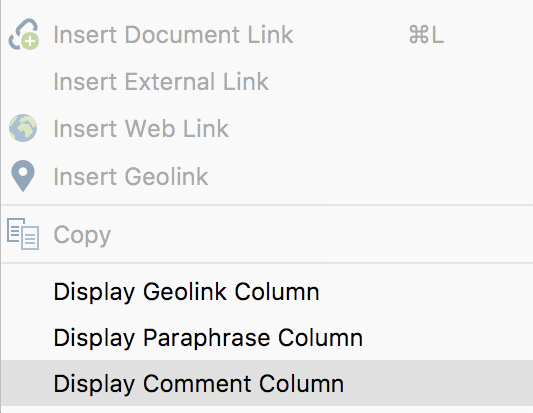 Display Comment Columns in Document Browser