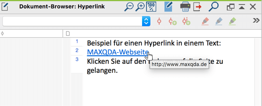 Hyperlink in einem Text