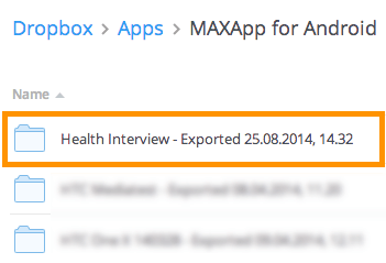 Export zu Dropbox und Import in MAXQDA