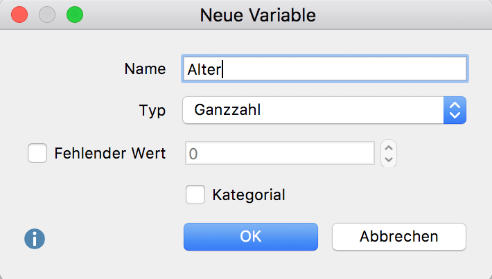 Neue Variable anlegen