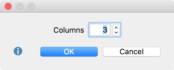 Choose the number of columns