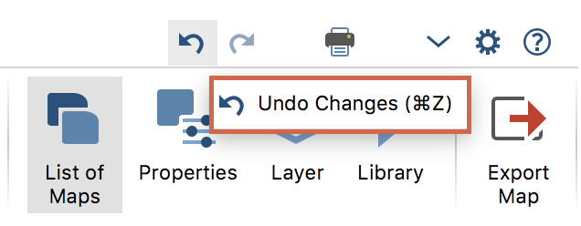 Undo icons in MAXMaps